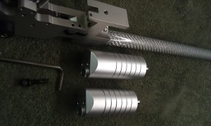 The LG300 MK2 regulators. 16J left, 7,5J right. Notice the difference in lenght.