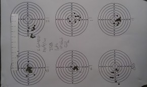 10 shot groups from die 21, 11 and 80.