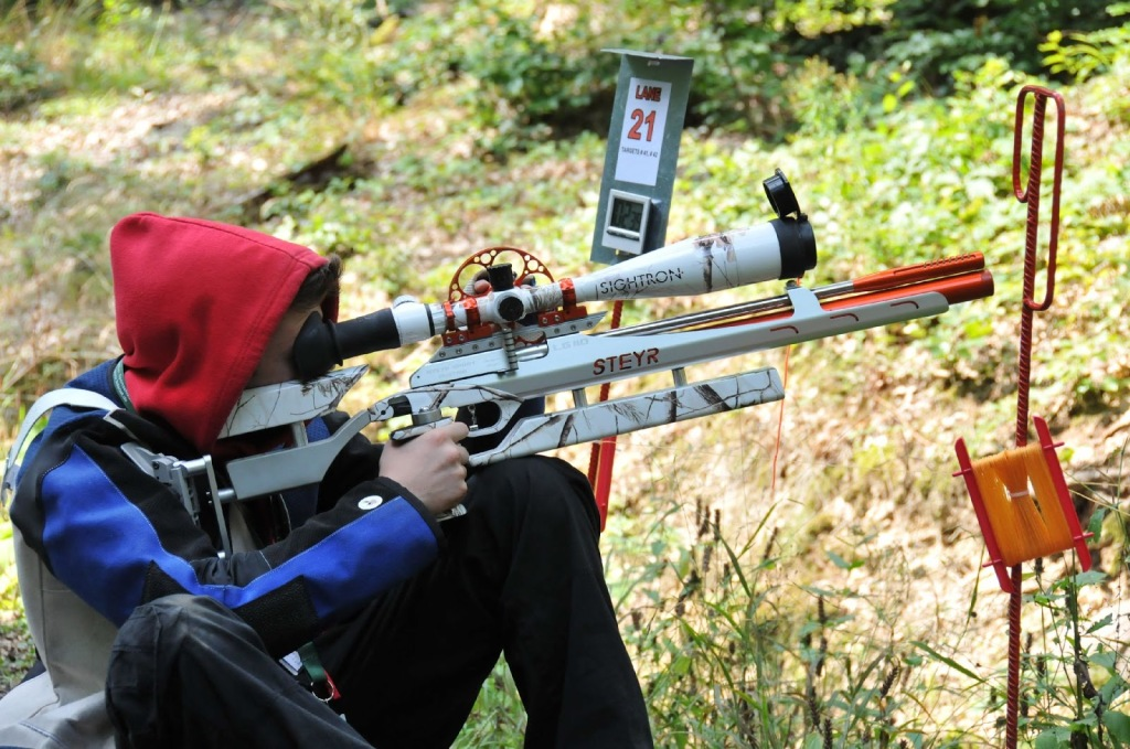 John Costello using the Airforce/Gunpower scope rail on his Steyr rifle