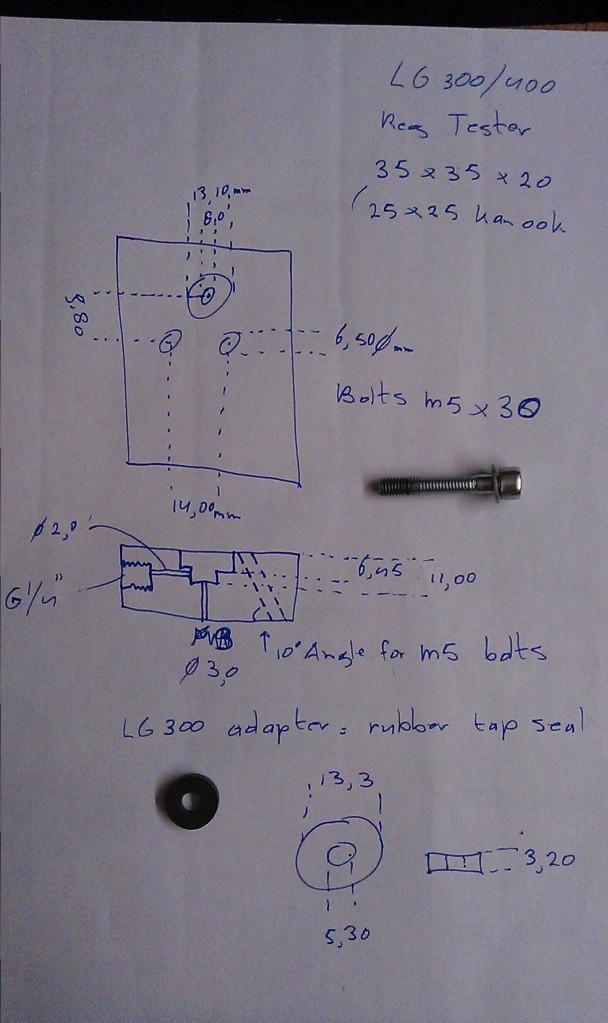 LG300/400 reg checker dimensions