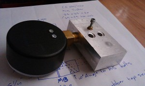 Reg tester; valve stem side