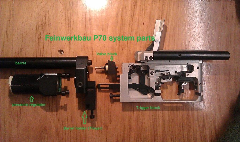 Feinwerkbau P70 system main parts IMAG2133