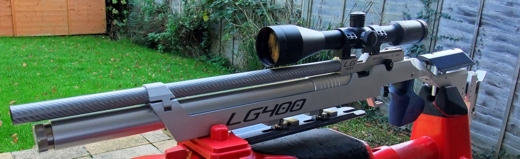 Geoff from England's Walther LG400 Hunter Field Target. Converted by Roger B.