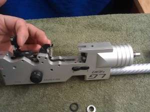 7. Dry fire the rifle to make sure there is no air pressure left in the regulator.