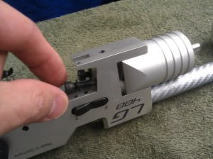 11. When fully unscrewed you can take out the bolts by hand.