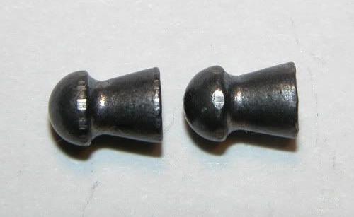 Pellet shot through an rifled (left) and polygonal barrel (right).