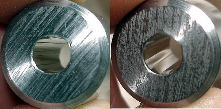 Rifled (left) and Polygonal barrel (right)